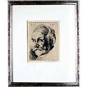 Hermann Kätelhön: Portrait at 65 (Ernst Moses Marcus). 1920, Engraving, Signed in Pencil
