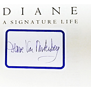 Diane Von Furstenberg Book: Signature Life. 1998, Signed First Edition