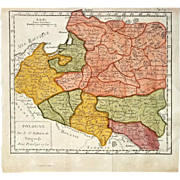 Robert de Vaugondy: Map of Poland With Privilege 1750 (Pologne par le Sr. Robert de Vaugondy. Avec Privilege 1750)