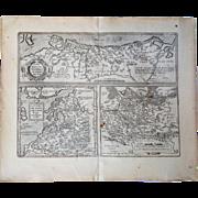 Abraham Ortelius: Map of Prussia, Pomerania, Latvia, Livonia. Theatrum Orbis Terrarum, Antwerp, 1584