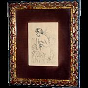 Pierre-Auguste Renoir: Baigneuse Debout, 1910. Original etching in black ink on wove paper.