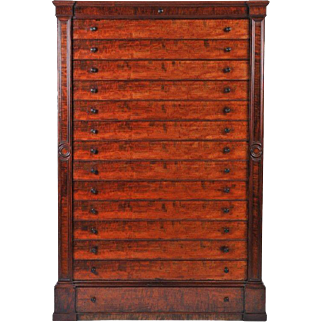 19th c. Large English Mahogany Chest of Drawers