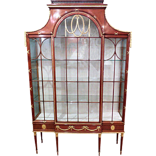 Edwardian Satinwood and Parcel Gilt Display/ China Cabinet