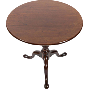 19th C. Mahogany Tilt Top Table