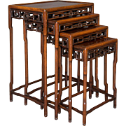 Set of 4 Nesting Padouk Chinese Tables