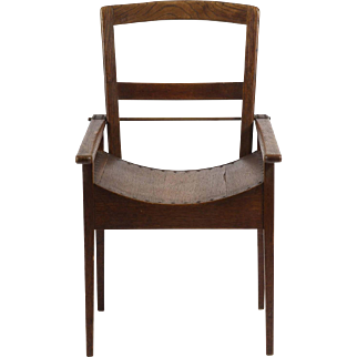 Arts and Crafts Oak and Ash Side Chair