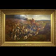 19th C. Oil on Canvas by John Charlton