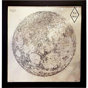 Limited Edition Orthographic Drawing Print of The Moon