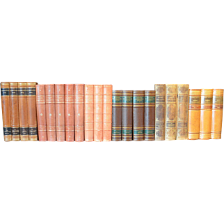 Meter of Early 20th Century Leather Bound Books, Series 01/02