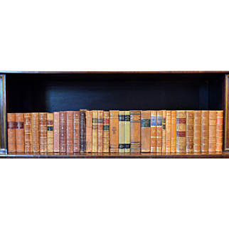 Metre of Early 20th Century Leather Bound Books, Series 13/14