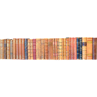 Early 20th Century Leather Bound Library Books Series 25/26