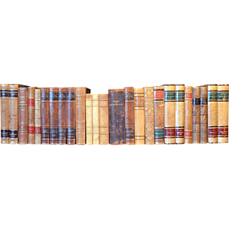 Early 20th Century Leather Bound Library Books Series 29/30