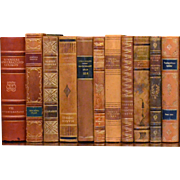 Early 20th Century Leather Bound Library Books Series 40