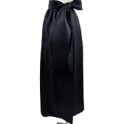 Vintage Givenchy Nouvelle Boutique Black  Maxi Gala Skirt With Matching Bow Size Small