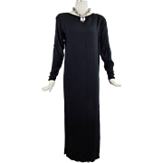 Yves Saint  Laurent  Dramatic  Evening Cut Out Maxi Gown Embellished Size 38