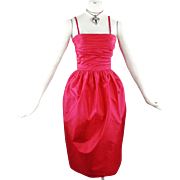 Givenchy Nouvelle Vintage Evening Red Cocktail Dress Size Small