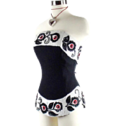 Karl Lagerfeld Vintage Corset With Ebroidered Sequin and Boning Size 38