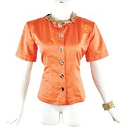 Yves Saint Laurent Spring Safari  Fitted Jacket  size 36