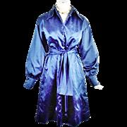 Vintage Mollie Parnis Boutique Royal Blue Huge Sash Day Dress Haute Couture 4-6