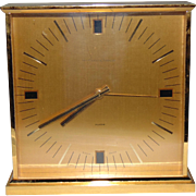 Vintage Van Cleef & Arpels Gold Brass Desk Alarm Clock