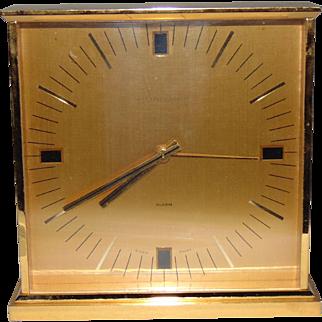 Vintage Van Cleef & Arpels Gold Brass Desk Alarm Clock