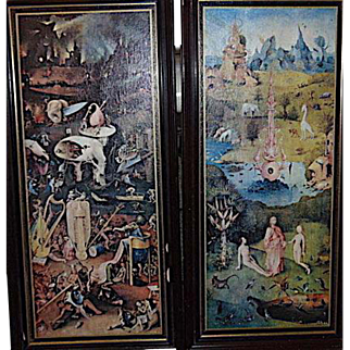 Hieronymus Bosch Workshop 16th Century Paintings from close Follower