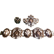 """A Fabulous """"Parenti""""sisters of Boston 3 piece ornate Sterling suite. - Red Tag Sale Item"""