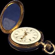 Elgin 14 karat yellow gold pocket watch