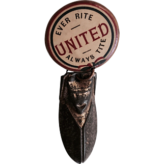 Union Ever Rite Pin Back Button With Attached Clicker  by  Whitehead and Hoag