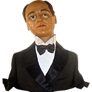 Wax Bust of Man in Formal Wear
