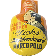 'A Clicker for Samuel Goldwyn's 1938 Film ; The Adventures of Marco Polo