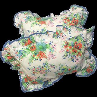 Pair of  Decorative Boudoir Pillows