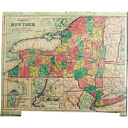 Dissected Map of  New york State by Rev. E. J. Clemens