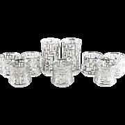 Libbey Mid Century Modern Glasses in Platinum Artica Pattern