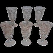 Cambridge Glass Minuet Footed Ice Tea Glasses (6)