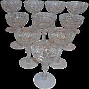 Fostoria Marlboro Champagne Glasses (10)