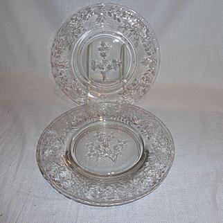 Cambridge Glass Minuet Salad Plates (4)