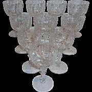Fostoria Marlboro Goblet Glasses (10)