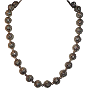 Silver Filigree Beaded Necklace