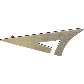 Sterling Silver Mexico Triangle Pin