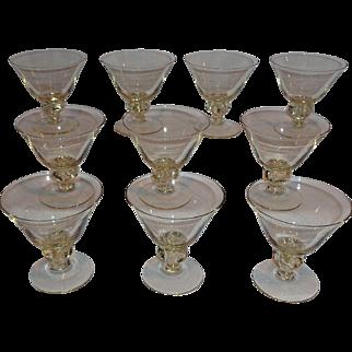 Topaz Martini Cocktail Glasses (10)