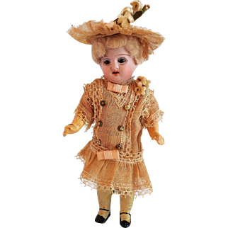 Extremely Rare Nikolaus Oberender Bisque Head Mignonette With Composition Body