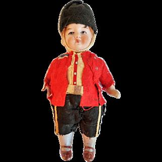 Kestner Style All Bisque 5 Piece Doll Original Costume