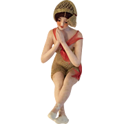 Galluba & Hofmann Bathing Beauty,original Mohair Wig and Knitted Suit, Bisque Doll