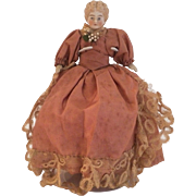 "Petite Parian Head 7"" Doll, Marked 9 Germany c 1860-1880"