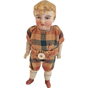 Gebruder Heubach All Bisque Five Piece Boy Doll Dressed