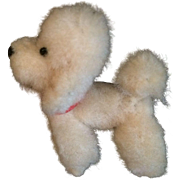Dollhouse Size White Poodle