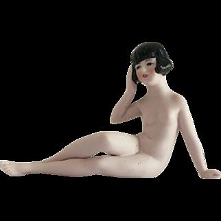 Hertwig Flapper Nude Bathing Beauty Marked Germany 1621