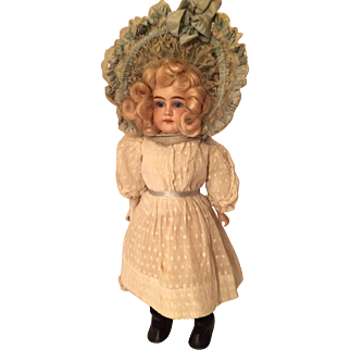 "Kestner Shoulder Head Marked 7 Kid Body Doll Ca. 1880""s"