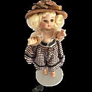 """Vintage Beehler, Virga Playmates 8"""" Hardplastic 1950's Walker Doll"""